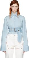 Marques Almeida Blue Asymmetric Shirt