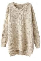 Memorose Womens Crochet Knitted Long Sleeve Loose Sweater Outwear Coat Pullover , fits Most