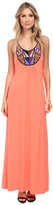 T-Bags LosAngeles Tbags Los Angeles Beaded Halter Maxi Dress