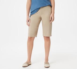 Martha Stewart Regular Stretch Twill Bermuda Shorts