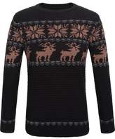 SSLR Men's Crewneck Patterned Long Sleeve Sweater