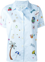 Mira Mikati embroidered patch shirt - women - Cotton/Spandex/Elastane - 36