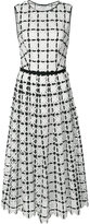 Carolina Herrera geometric lace pleated dress - women - Cotton - 2