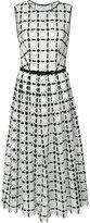 Carolina Herrera geometric lace pleated dress - women - Cotton - 8