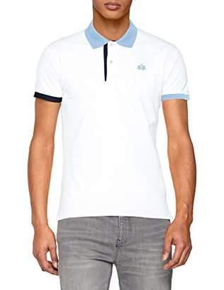 La Martina Men's Man Polo S/s Piquet Stretch Shirt