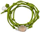 Nina Nguyen Bardot Fern Leather Wrap Bracelet