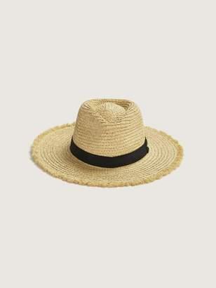 Straw Fedora with Frayed Brim - Canadian Hat