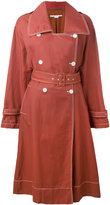 Stella McCartney Estrella trench coat - women - Cotton/Linen/Flax/Polyamide/Viscose - 40