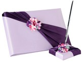 Lillian Rose Radiant Flower Guest Book with Pen Set