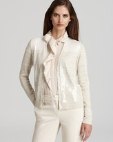 Jones New York Collection Sequin Color Block Cardigan