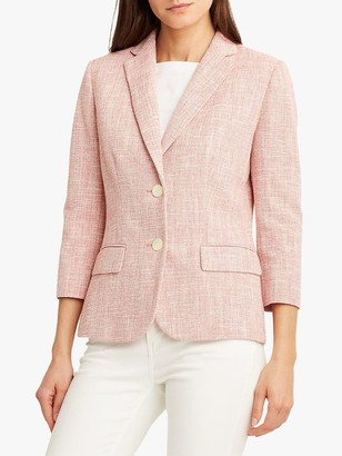 Ralph Lauren Ralph Luxena 3/4 Length Sleeve Blazer Jacket, Red/White