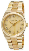 Michael Kors MK6152 Women's Channing Gold-Tone Stainless Steel & Horn Acetate