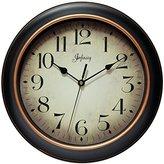 Infinity Instruments Precedent Silent Sweep 12 inch Wall Clock