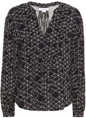 Velvet Vivian geometric-printed blouse