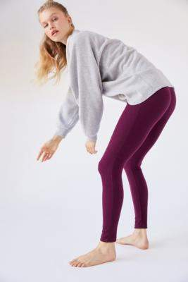 Out From Under Rory Ribbed Leggings - beige XS at Urban Outfitters