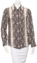 Derek Lam 10 Crosby Printed Button-Up Top w/ Tags