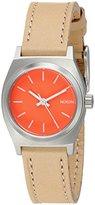 Nixon Women's A5092055 Small Time Teller Leather Analog Display Analog Quartz Watch