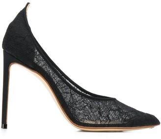 Francesco Russo lace stiletto pumps