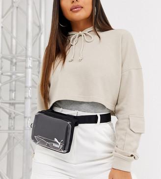 Puma transparent belt bag in black