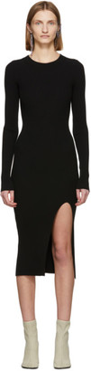 MM6 MAISON MARGIELA Black Ribbed Back Cut-Out Dress