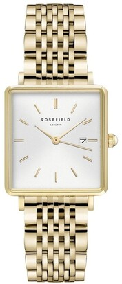 ROSEFIELD QWSG-Q09 The Boxy Gold Watch