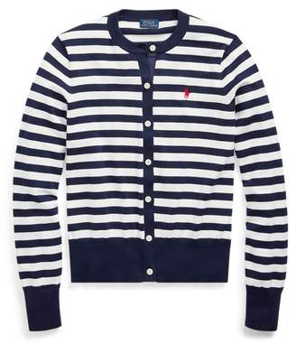 Ralph Lauren Striped Cotton Cardigan