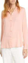 Vince Slim Fitted Stretch Silk Blouse