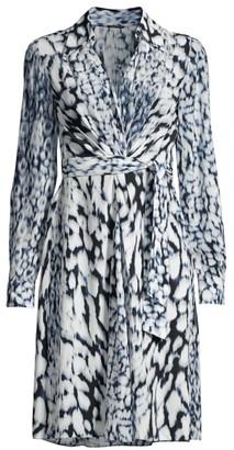 Elie Tahari Saxon Printed Tie-Dye Dress