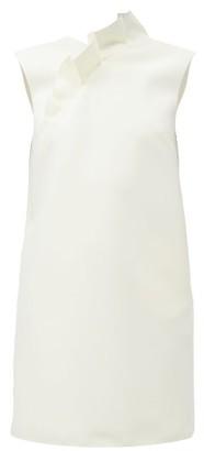 MSGM Ruffled Crepe Mini Dress - Ivory
