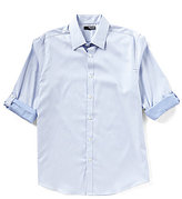 Murano Big & Tall Roll-Tab-Sleeve Liquid Luxury Patterned Sportshirt