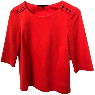 Maje Orange Wool Top for Women