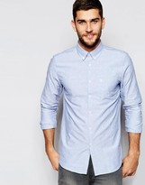 Jack Wills Oxford Shirt with Boat Jaquard In Classic Regular Fit