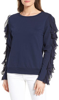 Halogen Ruffle Trim Sweatshirt (Regular & Petite)
