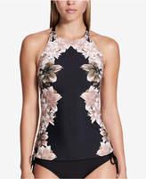 Calvin Klein Black Lily High-Neck Tankini Top Women's Swimsuit