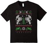 Men's Ugly Motocross Christmas Sweater-Style Shirt 3XL