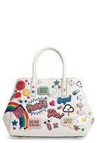 Anya Hindmarch Ebury - Allover Sticker Leather Tote - White