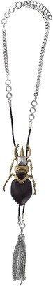 Gianfranco Ferré Pre-Owned 2000s Oversized Beetle Long Necklace