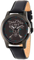 Disney Pirates of the Carribean Mens Black Strap Watch-Wds000376