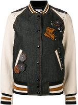 Coach embellished varsity jacket - women - Cotton/Sheep Skin/Shearling/Viscose - 6