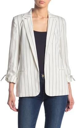 Love Token Striped 3/4 Sleeve Blazer
