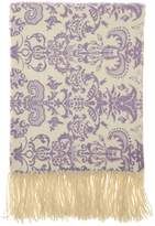 A & R Cashmere Printed Cashmere Blend Throw