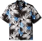 Cubavera Cuba Vera Men's Big-Tall All Over Tropical Printed Short Sleeve Woven Shirt
