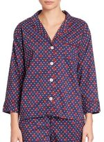 Sleepy Jones Marina Cotton Pajama Shirt