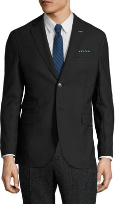 Michael Bastian Gray Label Wool Sharkskin Notch Lapel Sportcoat