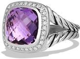 David Yurman Albion Ring with Amethyst and Diamonds