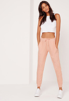 Missguided Loopback Reverse Joggers Pink