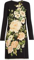 Dolce & Gabbana Floral-print long-sleeved crepe dress