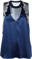 3.1 Phillip Lim embroidered tank top - women - Silk/Polyamide/Polyester/Viscose - 6