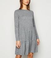 New Look Fine Knit Tiered Mini Smock Dress