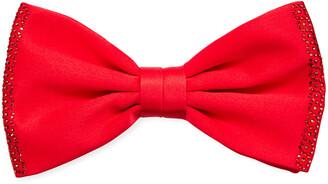 Stefano Ricci Crystal-Trim Silk Bow Tie